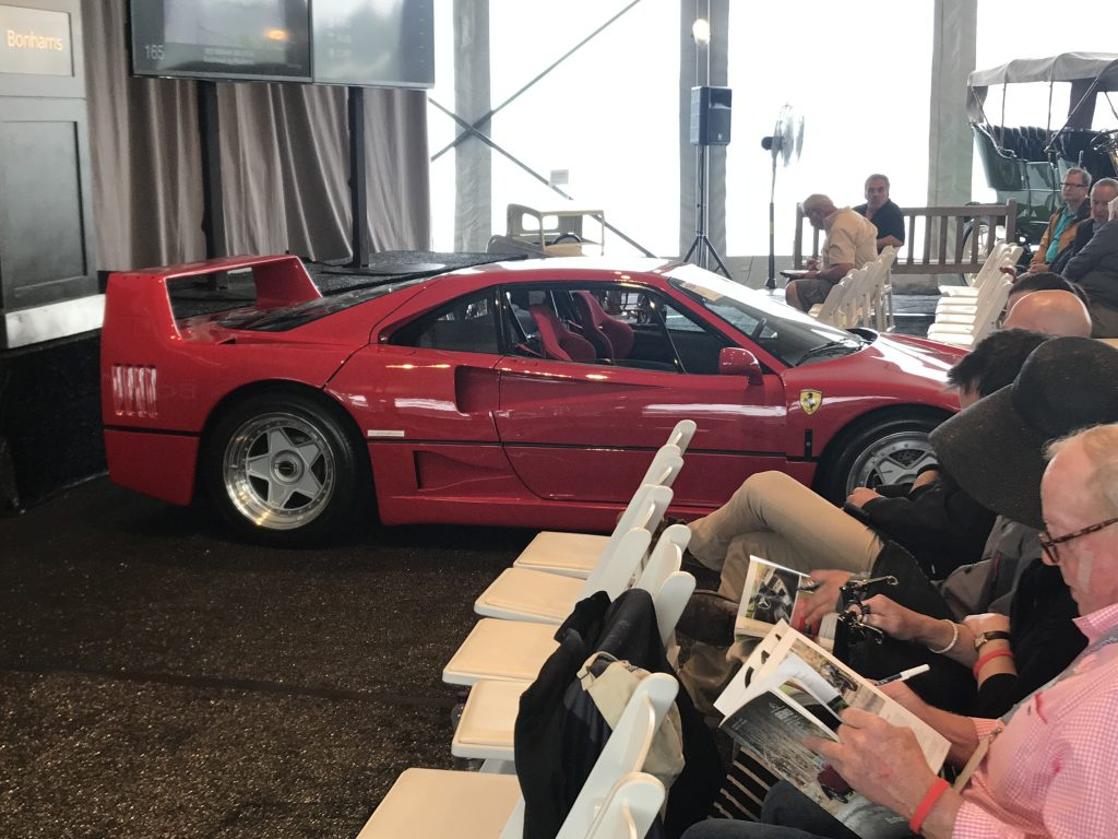 Bonham Auction house scores with a Ferrari F40 at the Greenwich Concours
