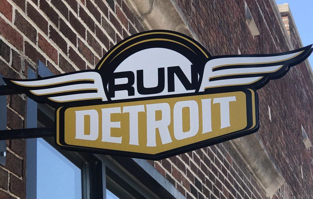Running a 5k on the Detroit Gran Prix race course